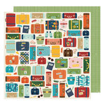 American Crafts - Go Now Go Collection - 12 x 12 Double Sided Paper - Move