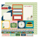 American Crafts - Go Now Go Collection - 12 x 12 Double Sided Paper - Race