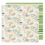 American Crafts - Go Now Go Collection - 12 x 12 Double Sided Paper - Journey
