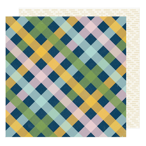 American Crafts - Go Now Go Collection - 12 x 12 Double Sided Paper - Picnic