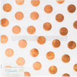 American Crafts - Go Now Go Collection - 12 x 12 Vellum Paper with Foil Accents - Dots