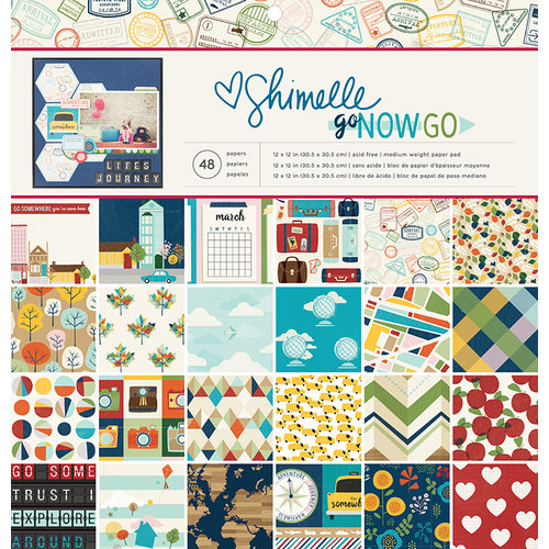 American Crafts - Go Now Go Collection - 12 x 12 Paper Pad