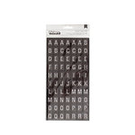 American Crafts - Go Now Go Collection - Thickers - Alpha - Departure - Black