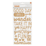 American Crafts - Go Now Go Collection - Thickers - Let's Go - Copper
