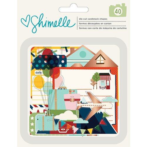 American Crafts - Go Now Go Collection - Ephemera with Foil Accents