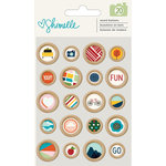 American Crafts - Go Now Go Collection - Wooden Buttons