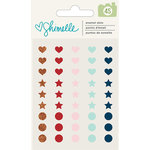 American Crafts - Go Now Go Collection - Enamel Dots - Hearts, Stars, Dots