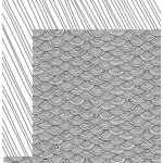 American Crafts - Adult Coloring Collection - 12 x 12 Double Sided Paper - Scallop