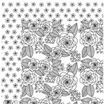 American Crafts - Adult Coloring Collection - 12 x 12 Double Sided Paper - Roses