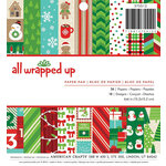 American Crafts - All Wrapped Up Collection - Christmas - 6 x 6 Paper Pad
