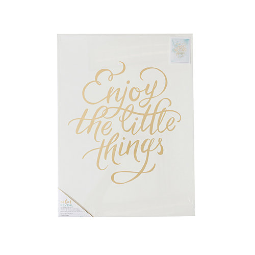 Crate Paper - Color Reveal Collection - Watercolor Panel - 18 x 24 - Enjoy The Little Things