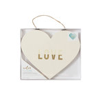 Crate Paper - Color Reveal Collection - Watercolor Heart Panel - 10.5 x 8.75 - Love