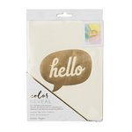 Crate Paper - Color Reveal Collection - Watercolor Notebook - 6 x 8 - Hello