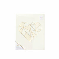 Crate Paper - Color Reveal Collection - Watercolor Panel - 13 x 16 - Geo Heart