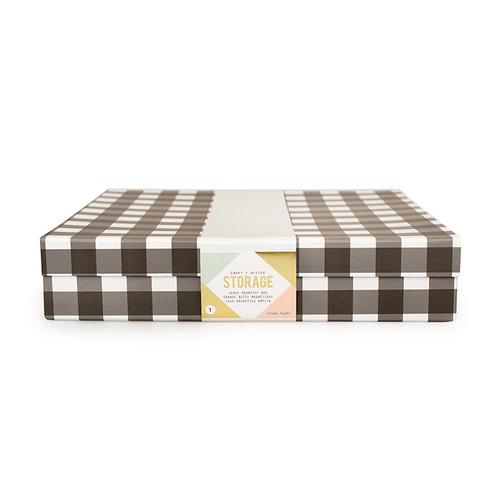 Crate Paper - Desktop Storage - Magnetic Box - Large