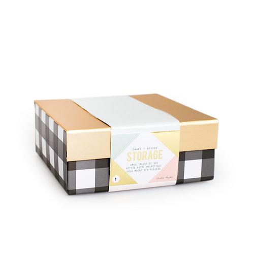 Crate Paper - Desktop Storage - Magnetic Box - Small