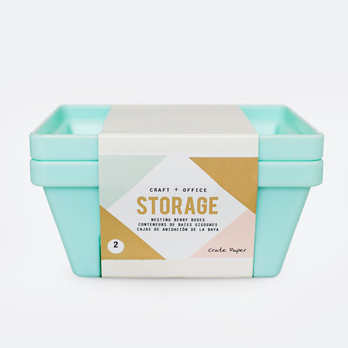 Crate Paper - Desktop Storage - Nesting Berry Containers
