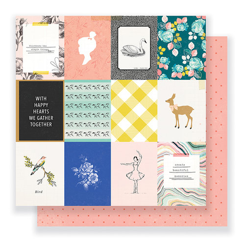 Crate Paper - Gather Collection - 12 x 12 Double Sided Paper - Sweet Life