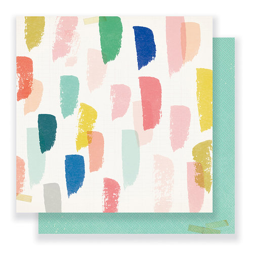 Crate Paper - Gather Collection - 12 x 12 Double Sided Paper - Joyful