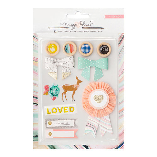 Crate Paper - Gather Mixed Embellishments