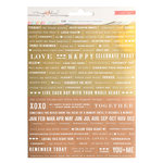 Crate Paper - Gather Collection - Foil Stickers - Phrases