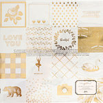 Crate Paper - Gather Collection - 12 x 12 Acetate Paper with Foil Accents - Found