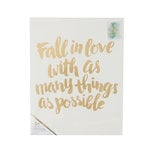 Crate Paper - Color Reveal Collection - Watercolor Panel - 16 x 20 - Fall in Love