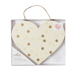 Crate Paper - Color Reveal Collection - Watercolor Heart Panel - 10.5 x 8.75 - Dots
