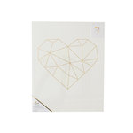 Crate Paper - Color Reveal Collection - Watercolor Panel - 16 x 20 - Geo Heart