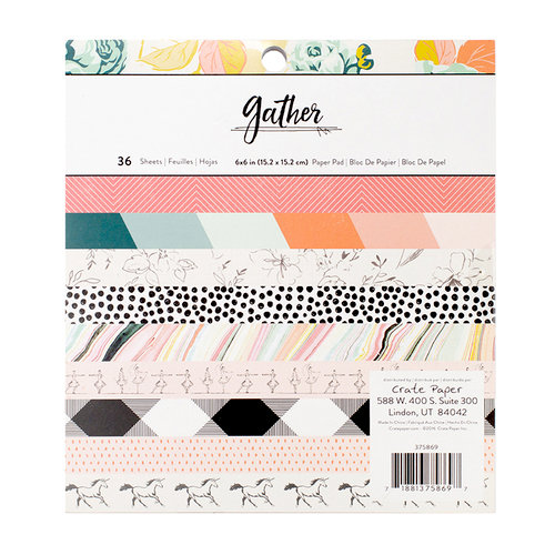 Crate Paper - Gather Collection - 6 x 6 Paper Pad