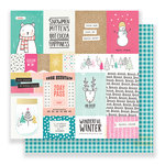 Crate Paper - Snow and Cocoa Collection - 12 x 12 Double Sided Paper - Hot Cocoa