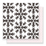 Crate Paper - Snow and Cocoa Collection - 12 x 12 Double Sided Paper - Snowflakes