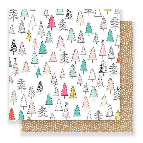 Crate Paper - Snow and Cocoa Collection - 12 x 12 Double Sided Paper - Joy