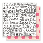 Crate Paper - Snow and Cocoa Collection - 12 x 12 Double Sided Paper - BRRR