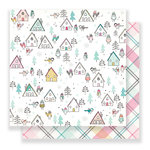 Crate Paper - Snow and Cocoa Collection - 12 x 12 Double Sided Paper - At Home