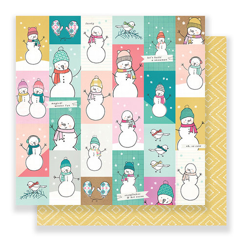 Crate Paper - Snow and Cocoa Collection - 12 x 12 Double Sided Paper - Let's Play