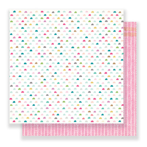 Crate Paper - Snow and Cocoa Collection - 12 x 12 Double Sided Paper - Rosy Cheeks