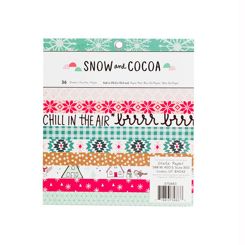 Crate Paper - Snow and Cocoa Collection - 6 x 6 Paper Pad