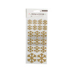 Crate Paper - Snow and Cocoa Collection - Cardstock Stickers with Glitter Accents - Snowflakes