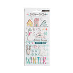 Crate Paper - Snow and Cocoa Collection - Puffy Stickers