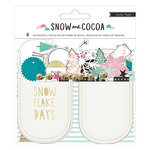 Crate Paper - Snow and Cocoa Collection - Mason Jar Pockets with Foil Accents