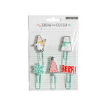Crate Paper - Snow and Cocoa Collection - Paper Clips - Rubber