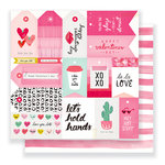 Crate Paper - Heart Day Collection - 12 x 12 Double Sided Paper - La La Love