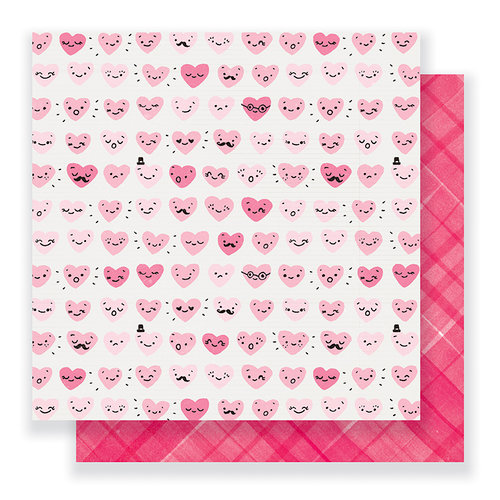Crate Paper - Heart Day Collection - 12 x 12 Double Sided Paper - Happy Heart