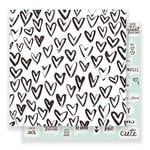 Crate Paper - Heart Day Collection - 12 x 12 Double Sided Paper - Snuggles