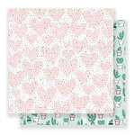 Crate Paper - Heart Day Collection - 12 x 12 Double Sided Paper - My Love