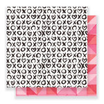 Crate Paper - Heart Day Collection - 12 x 12 Double Sided Paper - Hugs and Kisses