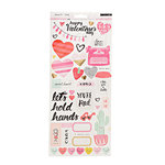 Crate Paper - Heart Day Collection - Cardstock Stickers with Foil Accents