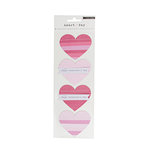 Crate Paper - Heart Day Collection - Cardstock Stickers - Fringe Hearts