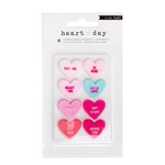 Crate Paper - Heart Day Collection - Rubber Embellishments